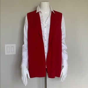 CHICO'S Red Vest - Size 1